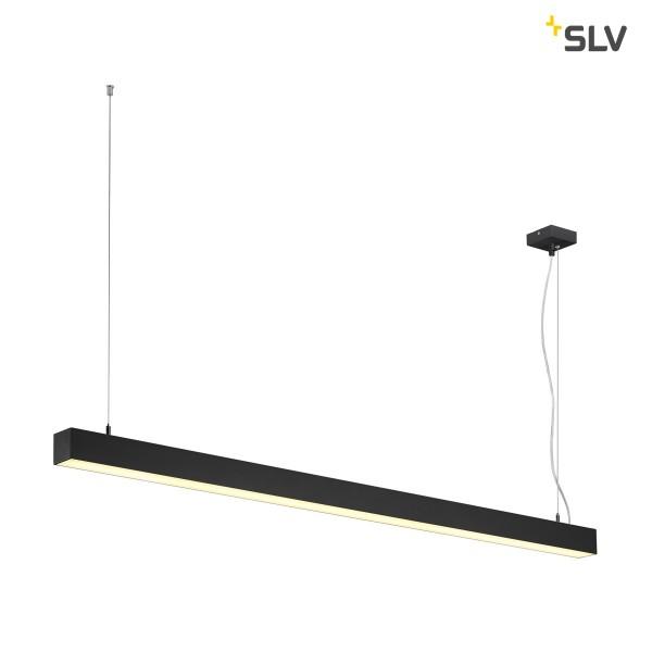 SLV 1001309 Q-Line, Pendelleuchte, schwarz, dimmbar Dali+ Switch, LED, 47W, 3000K, 3700lm