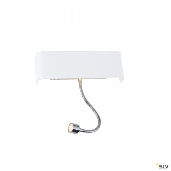 SLV 1000615 + 1000623 Mana 200, Wandleuchte, weiß, Schalter, up&down, LED, 11W, 3000K, 490lm