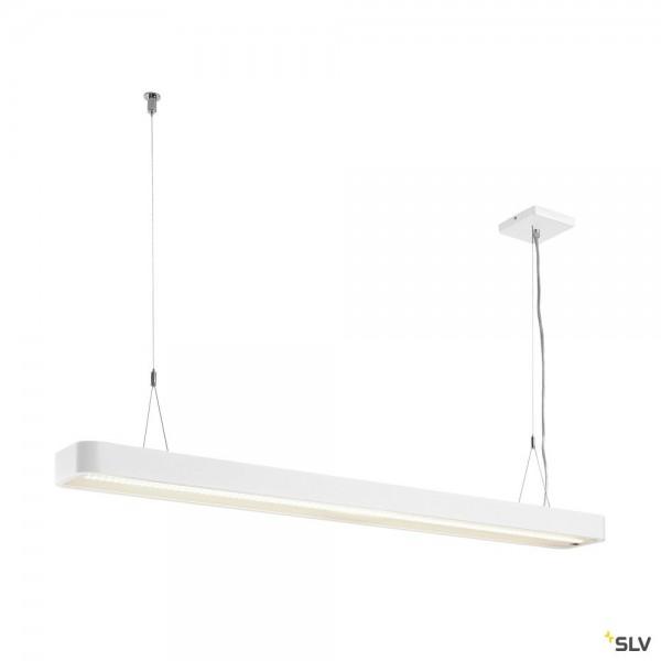 SLV 1003527 Worklight Plus, Pendelleuchte, weiß, dimmbar Switch, LED, 48W, 4000K, 5520lm