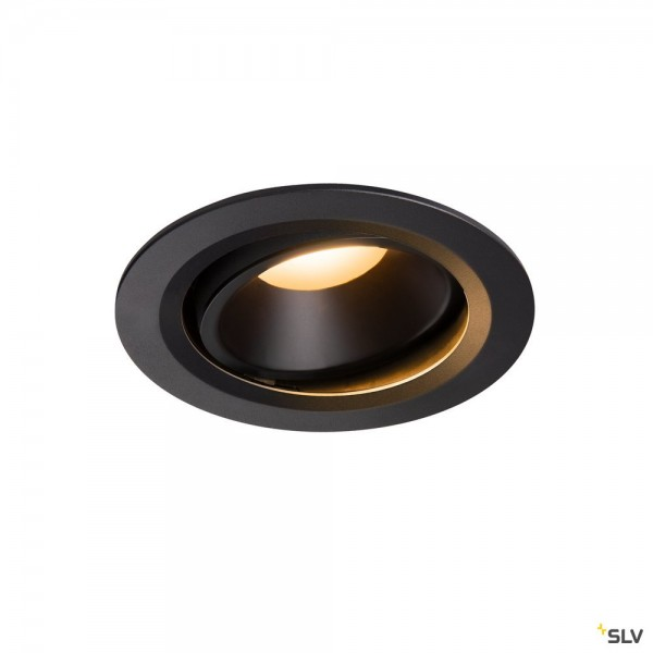 SLV 1003631 Numinos Move L, Deckeneinbauleuchte, schwarz, LED, 25,41W, 2700K, 2150lm, 55°