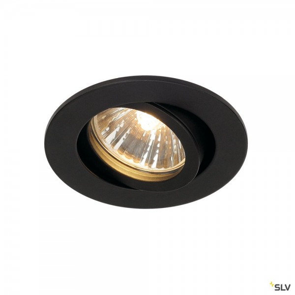 SLV 1001980 New Tria 68, Deckeneinbauleuchte, schwarz, QPAR51, GU10, max.50W