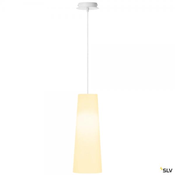 SLV 155561 + 156201 Fenda, Pendelleuchte, weiß, Ø15cm, E27, max.60W