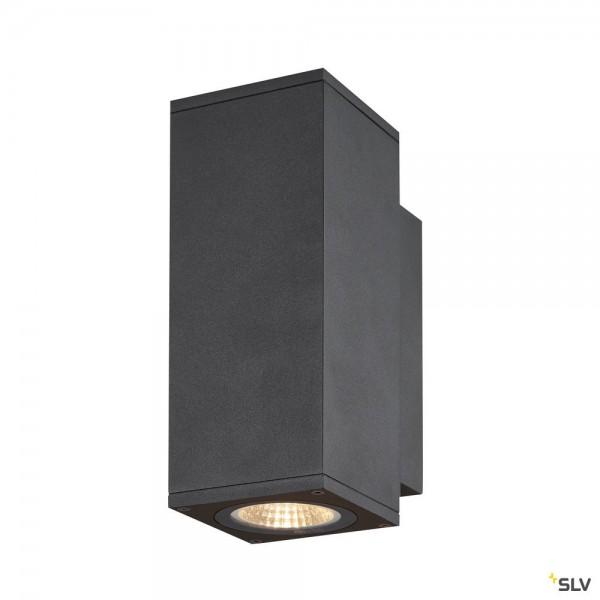 SLV 1003418 Enola Square S, Wandleuchte, anthrazit, up&down, IP65, LED, 7W, 3000K/4000K, 960lm