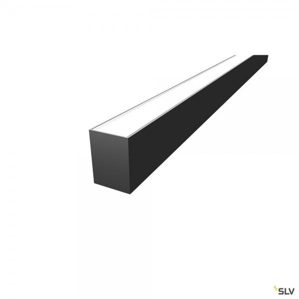 SLV 1004898 Grazia 60, Aufbauprofil, schwarz, B/H/L 7x9,5x300cm, LED Strips max.B.2cm
