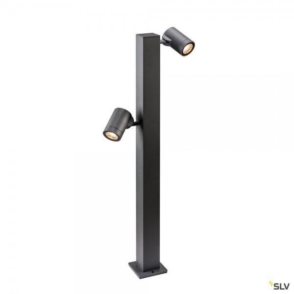 SLV 1002200 Helia Pole, Standleuchte, anthrazit, IP55, dimmbar Triac C+L, LED, 16W, 3000K, 900lm