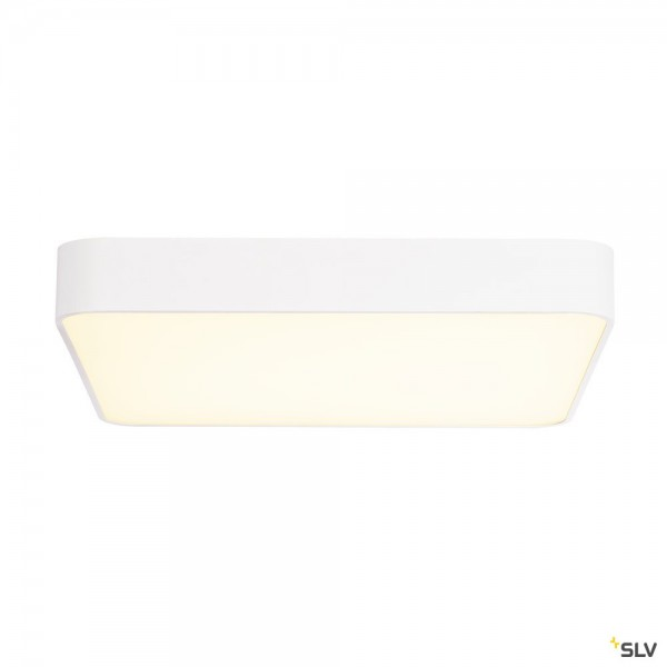 SLV 1000726 Medo 60 Square, Deckenleuchte, weiß, dimmbar 1-10V, LED, 39W, 3000K, 3300lm