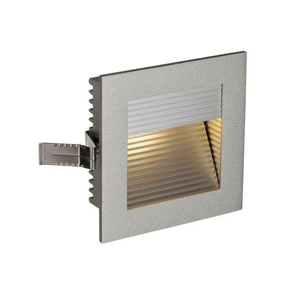 SLV 1000241 Carda, Wandeinbauleuchte, silbergrau, LED, 1W, 3000K, 90lm