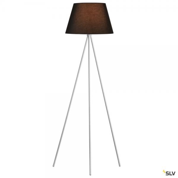 SLV 1003033 + 156180 Fenda, Stehleuchte, weiß/schwarz, Ø45,5cm, E27, max.40W