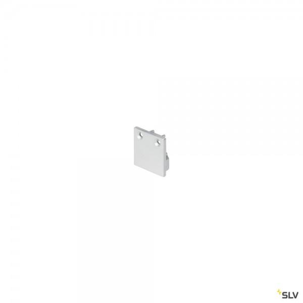 SLV 213454 Glenos 2020, Endkappen, silbergrau, 2 Stück