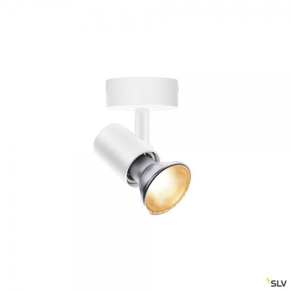 SLV 1002073 Spot E27, Strahler, weiß, QPAR 20, E27, max.75W