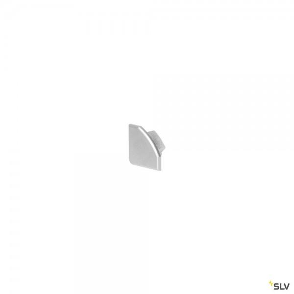 SLV 213934 Glenos 2720, Endkappen, silbergrau, 2 Stück