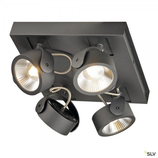 SLV 1000135 Kalu, Strahler, schwarz, dimmbar C, LED, 60W, 3000K, 4000lm, 60°