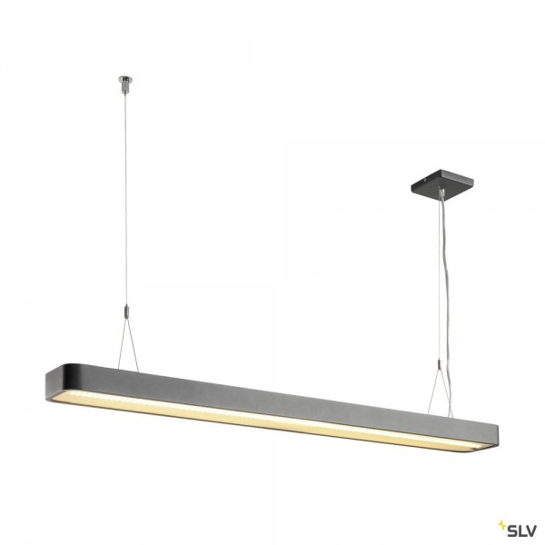 SLV 1002850 Worklight Plus, Pendelleuchte, anthrazit, dimmbar Dali, LED, 48W, 3000K, 5520lm