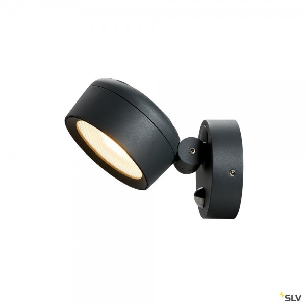 SLV 1002904 Eskina Sensor, Strahler, anthrazit, IP54, dimmbar C, LED, 14,5W, 3000K/4000K, 1000lm