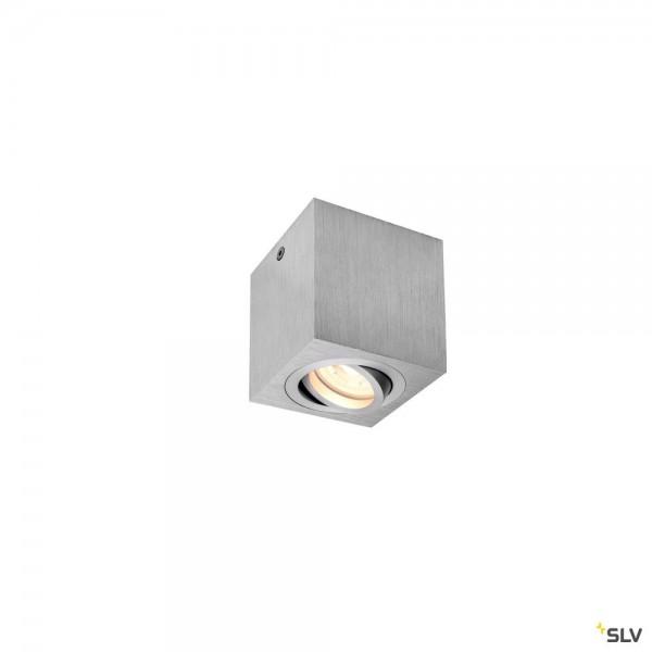 SLV 1002004 Triledo Square, Deckenleuchte, alu gebürstet, LED GU10, max.10W