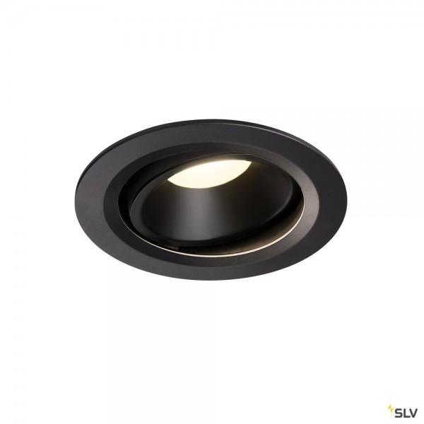 SLV 1003673 Numinos Move L, Deckeneinbauleuchte, schwarz, LED, 25,41W, 4000K, 2350lm, 20°