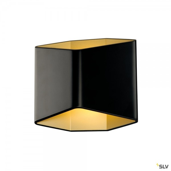 SLV 151710 Cariso WL-2, schwarz/gold, up&down, dimmbar Triac C+L, LED, 11W, 2700K, 200lm