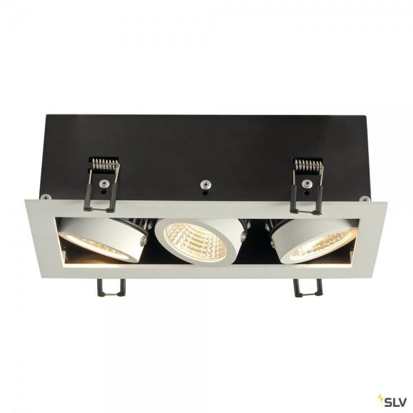 SLV 115721 Kadux 3 Set, Deckeneinbauleuchte, dimmbar Triac C+L, LED, 21W, 3000K, 1920lm