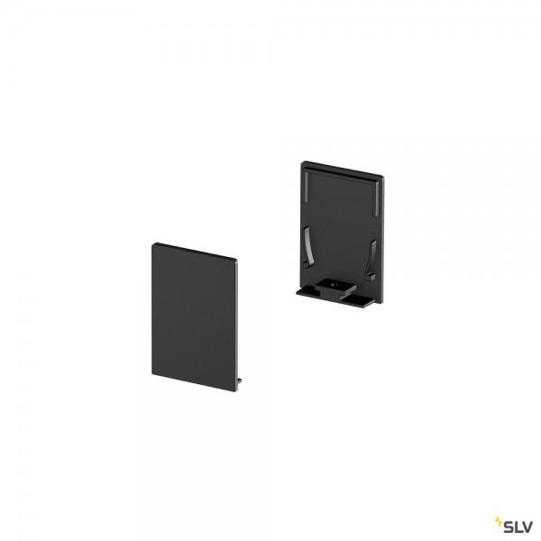 SLV 1000570 Grazia 20, Endkappen, schwarz, hoch, 2 Stück