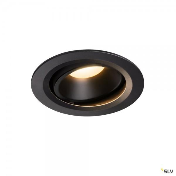 SLV 1003655 Numinos Move L, Deckeneinbauleuchte, schwarz, LED, 25,41W, 3000K, 2150lm, 55°