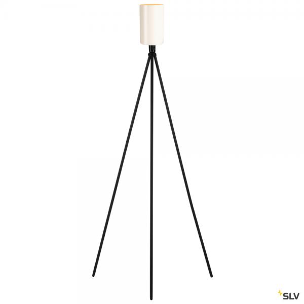 SLV 155490 + 1002217 Fenda, Stehleuchte, Glas, schwarz/weiß, E27, max.40W