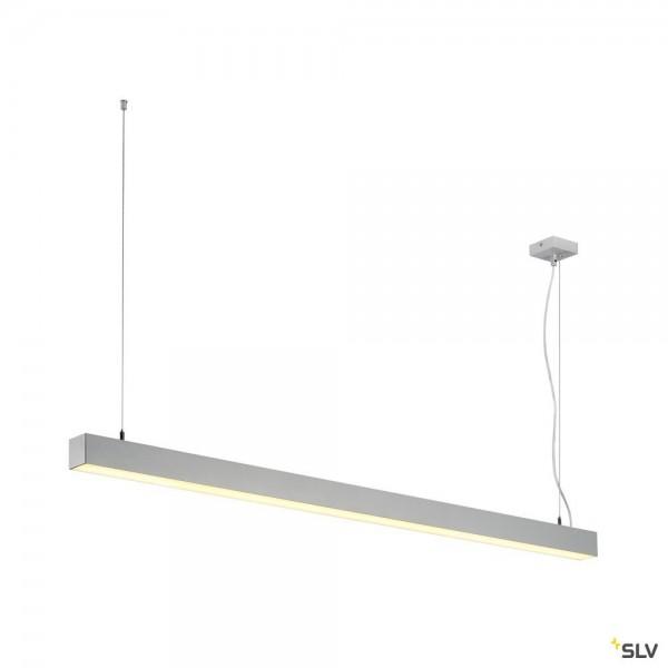 SLV 1001312 Q-Line, Pendelleuchte, silbergrau, dimmbar Dali+ Switch, LED, 47W, 3000K, 3700lm