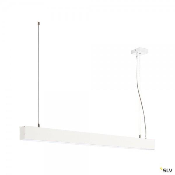 SLV 1001404 Glenos, Pendelleuchte, weiß matt, dimmbar 1-10V, LED, 43W, 4000K, 3300lm