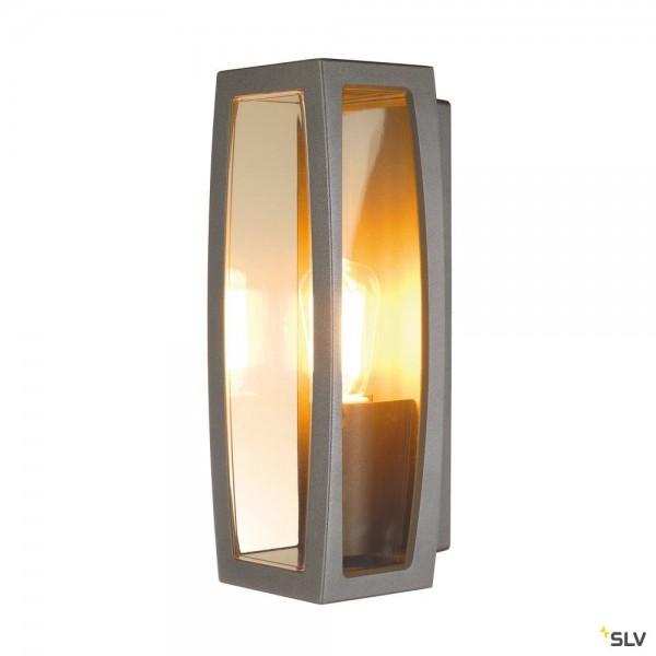SLV 230655 Meridian Box 2, Wand- und Deckenleuchte, anthrazit, IP54, E27, max.25W