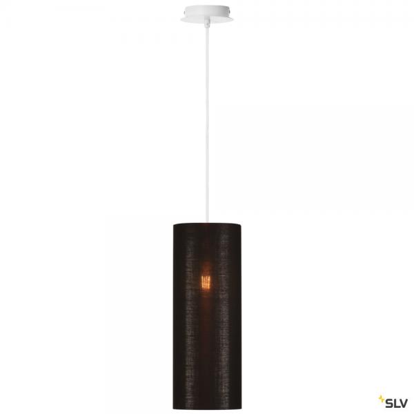 SLV 155561 + 156152 Fenda, Pendelleuchte, weiß/schwarz/kupfer, Ø15cm, E27, max.60W