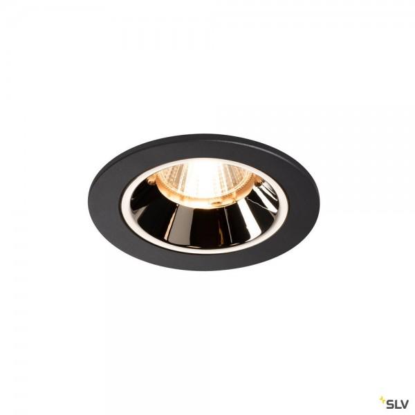 SLV 1003777 Numinos S, Deckeneinbauleuchte, schwarz/chrom, LED, 8,6W, 2700K, 690lm, 55°