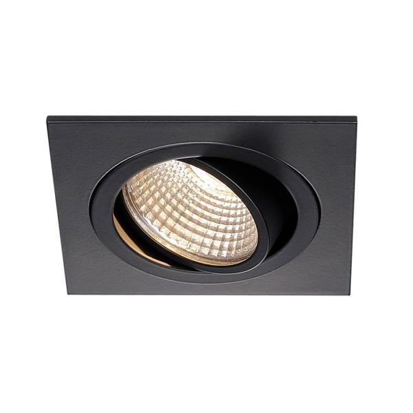 SLV 1000247 Pireq 77, Deckeneinbauleuchte, schwarz matt, LED, 8W, 3000K, 700lm