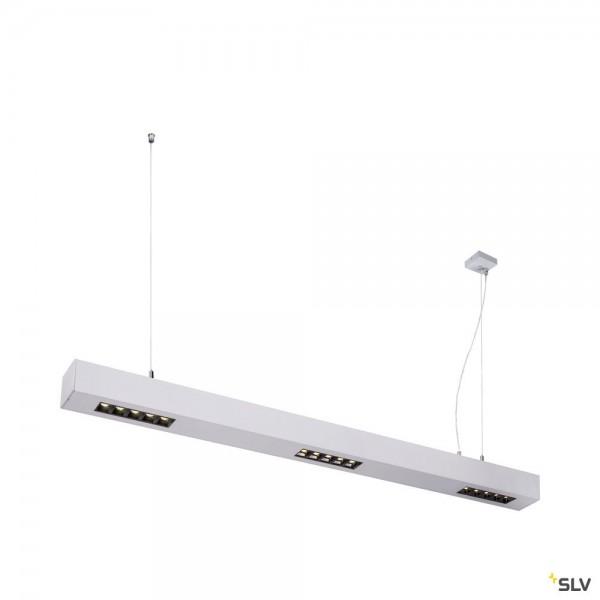 SLV 1000934 Q-Line, Pendelleuchte, silber, dimmbar Triac L, LED, 45W, 4000K, 2300lm