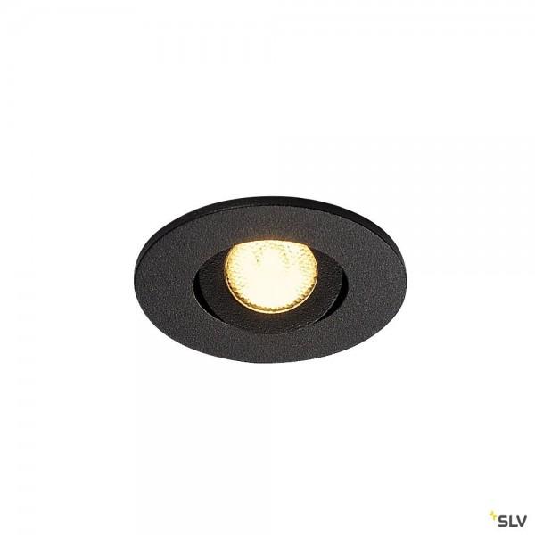 SLV 113970 New Tria Mini Set, Deckeneinbauleuchte, schwarz, IP44, LED, 4,4W, 3000K, 143lm