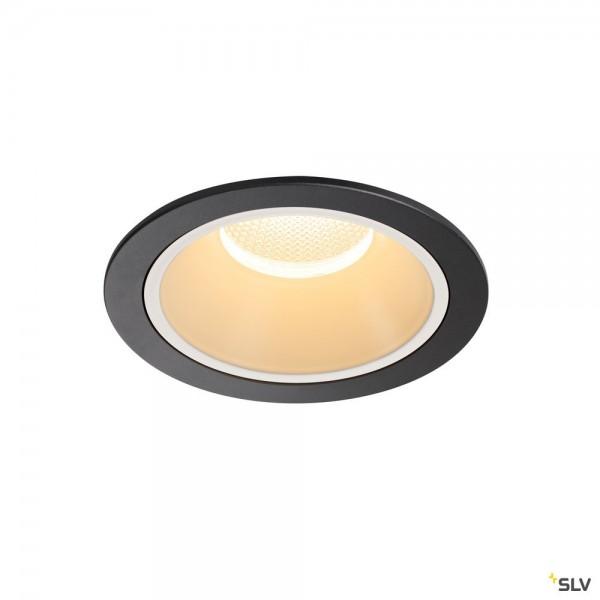 SLV 1004010 Numinos XL, Deckeneinbauleuchte, schwarz/weiß, LED, 37,4W, 3000K, 3550lm, 20°