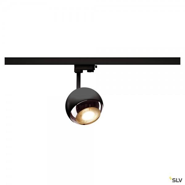 SLV 1000707 Light Eye 150, 3Phasen, Strahler, schwarz/chrom, QPAR111, GU10, max.75W
