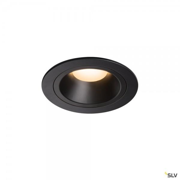 SLV 1003871 Numinos M, Deckeneinbauleuchte, schwarz, LED, 17,55W, 3000K, 1500lm, 55°