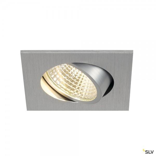 SLV 113966 New Tria 1 Set, Deckeneinbauleuchte, alu gebürstet, LED, 5,3W, 3000K, 300lm
