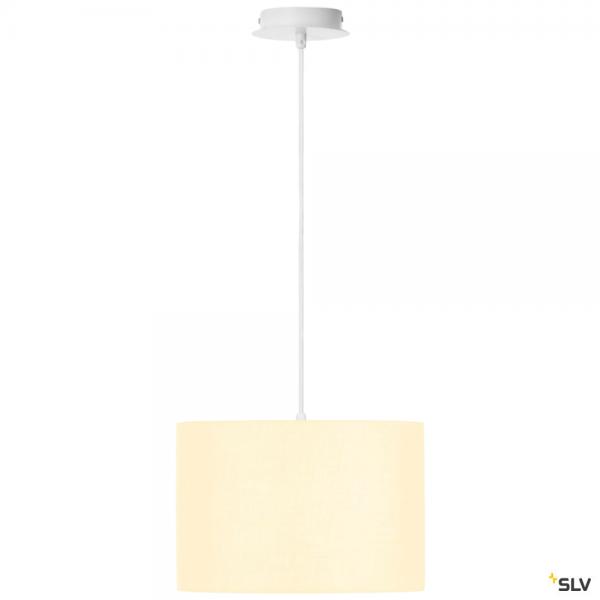 SLV 155561 + 155582 Fenda, Pendelleuchte, weiß, Ø30cm, E27, max.60W