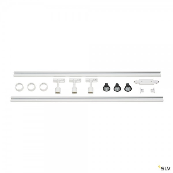 SLV 143191 Puri Set, 1 Phasen, Strahler, weiß, QPAR51, LED GU10, max.3x4W