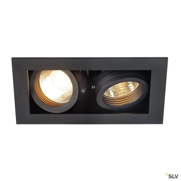 SLV 115520 Kadux 2, Deckeneinbauleuchte, schwarz matt, QPAR51, GU10, max.2x50W
