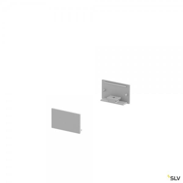SLV 1000559 Endkappen 2 Stück, alu eloxiert, flach, Grazia 20
