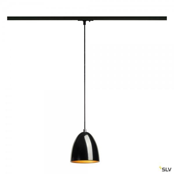SLV 143990 Para Cone 14, 1 Phasen, schwarz glänzend, QPAR51, GU10, max.35W