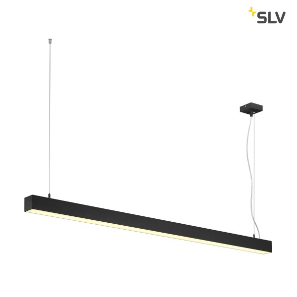 SLV 1001306 Q-Line, Pendelleuchte, schwarz, LED, 46W, 3000K, 3700lm