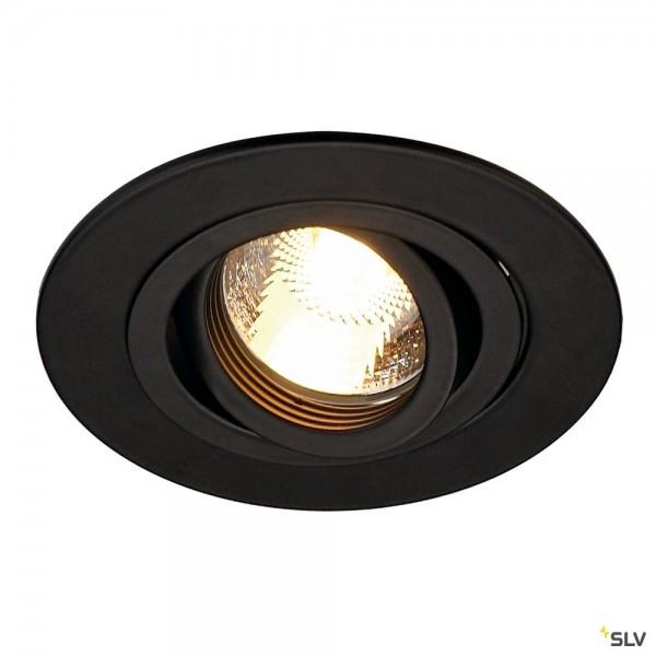 SLV 113440 New Tria XL, Deckeneinbauleuchte, schwarz, QPAR51, GU10, max.50W