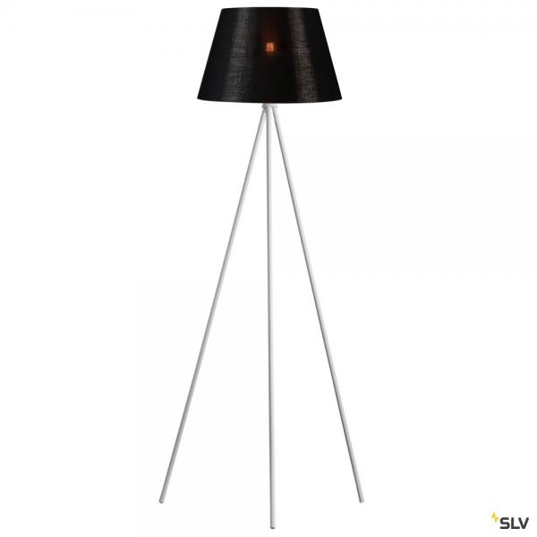 SLV 1003033 + 156192 Fenda, Stehleuchte, weiß/schwarz/kupfer, Ø45,5cm, E27, max.40W