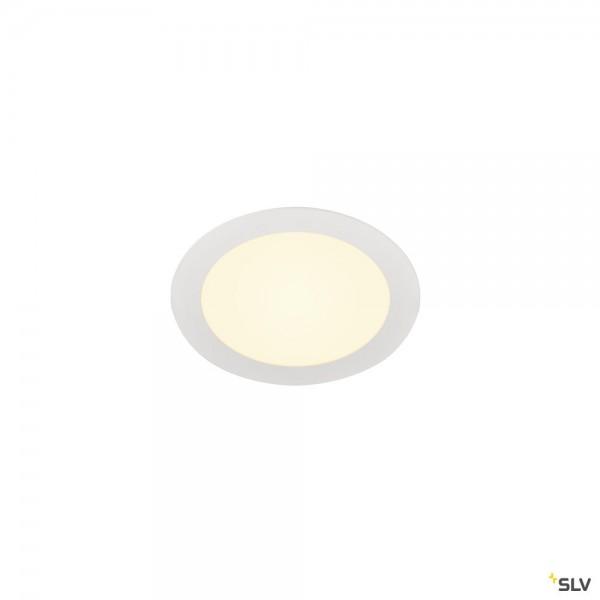 SLV 1003009 Senser 18, Deckeneinbauleuchte, weiß, LED, 9,7W, 3000K, 950lm