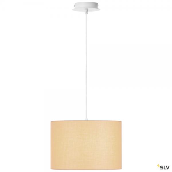 SLV 155561 + 155583 Fenda, Pendelleuchte, weiß/beige, Ø30cm, E27, max.60W