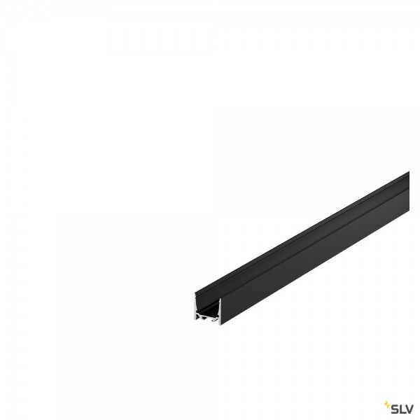SLV 1004920 Grazia 20, Aufbauprofil, schwarz, B/H/L 3,5x3.2x150cm, LED Strip max.B.2cm