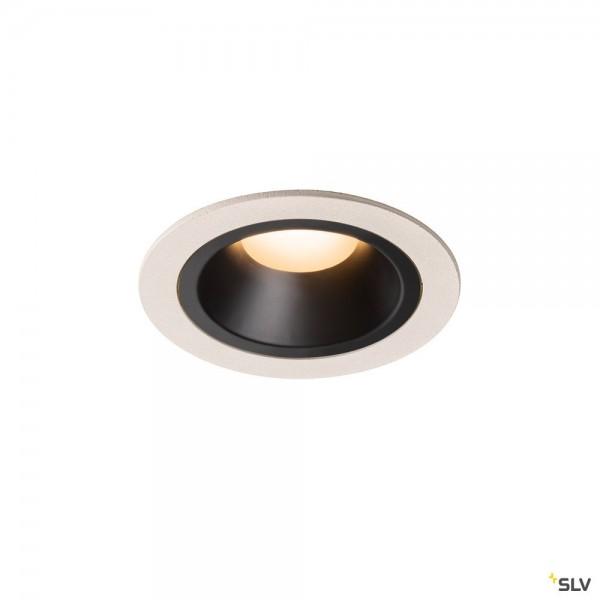 SLV 1003853 Numinos M, Deckeneinbauleuchte, weiß/schwarz, LED, 17,55W, 2700K, 1460lm, 20°