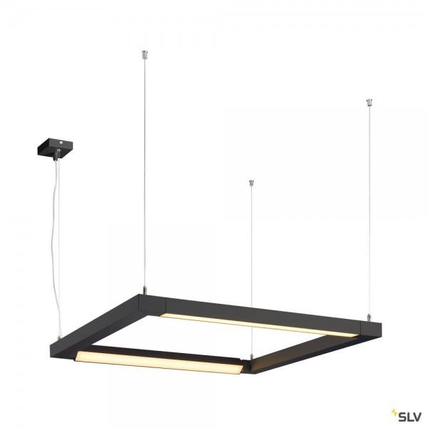 SLV 1001295 Open Grill, Pendelleuchte, schwarz, LED, 54W, 3000K, 4500lm